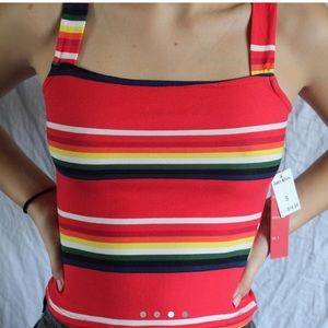 Colorful striped tank top
